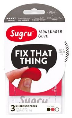 Sugru is the world's first mouldable glue that turns into rubber. Sugru is ideal for any DIY project – it can fix, fill, seal, bond, and replace. Its unique formulation ensures that it will adhere strongly Sugru Glue, Sugru Mouldable Glue, Diy Pins, Discount Curtains, Duct Tape, Things To Know, Adhesive, Bond, The Cure