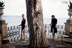 VOGUE BRAZIL NOVEMBER 2014.Adriana Lima & Karolina Kurkova by Peter Lindbergh