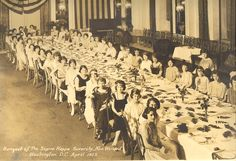 Banquet of The Sigma Kappa Sorority, New Willard, Washington, D.C. - April 1923