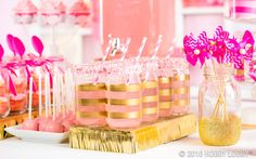 A dash of gold and a splash of pink...this will be a party to remember!