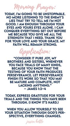 Prayer Scriptures, Prayer Quotes, Bible Quotes, Morning Devotion, Morning Prayers, Mental Illness Quotes, Prayer For You, Inspirational Prayers, Write It Down