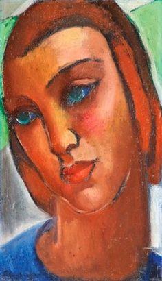 Női portré   Armand Schönberger (Hungarian, 1885~1974)