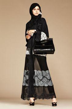 Dolce & Gabbana Abaya Autumn/Winter 2016 Ready-To-Wear Collection | British Vogue