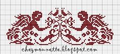 Cherub Silhouette free cross stitch pattern