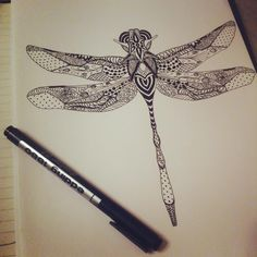 Гипнострекоза #doodle #zentangle