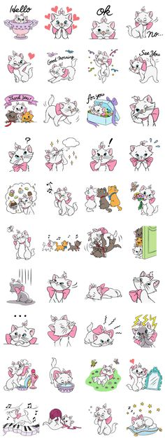 Marie from the Aristocats is here in a new sticker set. Use her cute catty poses and ladylike demeanor to give an adorably sophisticated air to your chats. Disney Love, Disney Art, Disney Wallpaper, Iphone Wallpaper, Planner Stickers, Printable Stickers, Image Deco, Aristocats, New Sticker