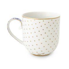 Discover the Pip Studio Royal White Dotty Mug at Amara
