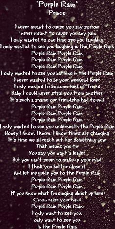 Purple Rain Lyrics