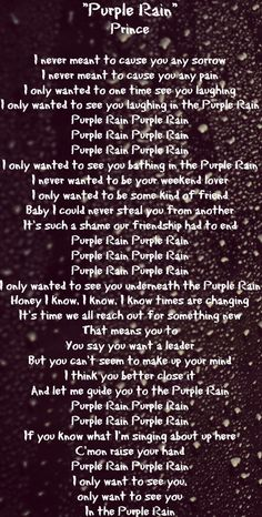 Purple Rain Lyrics