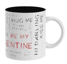 Valentines Mugs, Love You, Tableware, Design, Te Amo, Dinnerware, Je T'aime, Tablewares