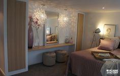 Ontwerp & Realisatie slaapkamer met badkamer en suite.