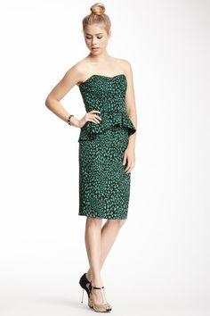 Sweetheart Peplum Silk Dress