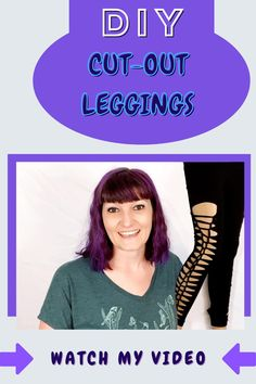 Want to revamp with your old tights/leggings? Watch and learn how to turn your old boring tights into cool braided leggings. No sewing required!  #revivalink #rippedleggings #rippedtights #diyleggings #diy #diyclothing #howto #diyfashion #videosdiy #upcycling