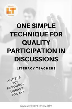 One Simple Tip for Quality Participation in Discussions Teaching Writing, Teaching Tools, Student Learning, Teacher Resources, Middle School Teachers, High School Students, Reading Strategies, Reading Comprehension, Summative Assessment