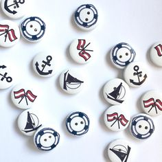 5 pcs of nautical buttons, mixed set of buttons, anchor button, navy button, life buoy button, wooden button, nutical button by cottonstoriesPL on Etsy Wood Colors, Paint Colors, Finding Yourself, Create Yourself, Craft Supplies, Nautical, Unique Gifts, My Etsy Shop, Anchor