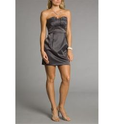 Charcoal Grey Bridesmaid Dresses