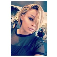 Prom Hairstyles For Short Hair, Black Women Hairstyles, Short Hair Cuts, Wig Hairstyles, Straight Hairstyles, Hairstyle Ideas, Wedding Hairstyles, Red Blonde Hair, Blonde Ombre
