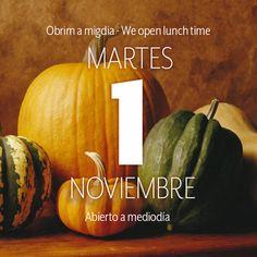Roig Robí les informa que el próximo 1 de noviembre, fiesta de Todos los Santos, abriremos nuestras puertas. Les esperamos. #FelizMartes