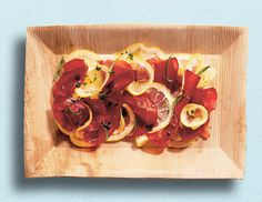 Recipe for Bresaola With Herbed Olive Oil : La Cucina Italiana