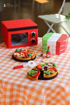 Food Crafts, Diy Food, Diy And Crafts, Crafts For Kids, Felt Pizza, Comida Diy, Felt Games, Felt Food Patterns, Art Restaurant