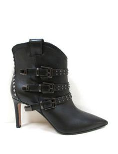 THE SELLER Pointed Toe Moto Boots S4098