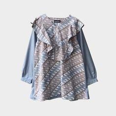 Kebaya Dress, Batik Fashion, Kimono Top, Wedding Dresses, Fabric, Model, Collection, Tops, Style