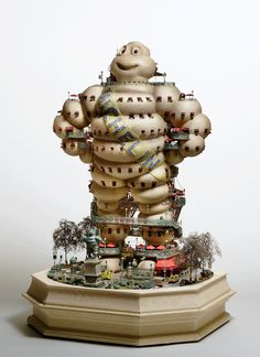 Hotel Michelin Man.  Breakfast is always served with a short-stack of tires.  The model stands about three feet tall!