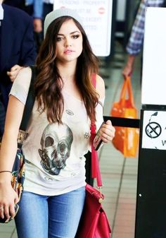 6. Graphic Tee - 7 Fantastic Street Style Looks from Lucy Hale ... → Celebs