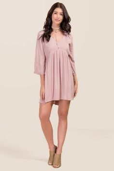 Lindsay Lace Trim Embroidery Dress