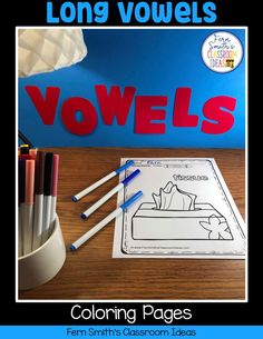 Your Students will ADORE these Coloring Book Pages for Long Vowels! Add it to your plans to compliment any Long Vowels Unit! 70 Coloring Pages For Some Long Vowel Fun! Perfect for bulletin board Second Grade Teacher, First Grade Classroom, First Grade Math, Long U Words, Vowel Worksheets, Classroom Management Tips, Long Vowels, Addition And Subtraction, Coloring Book Pages