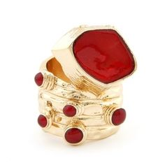 Urban Boho Ring Red by Shine Accessories
