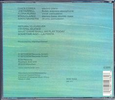 CHICK COREA. Return To Forever 2