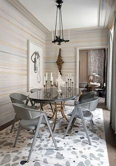 dining room horizontal stripes