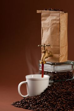 Fresh coffee, just turn on the faucet.