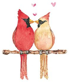 male and female cardinals tattoo - Google Search