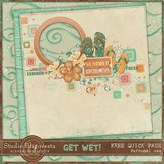 Scrapbooking TammyTags -- TT - Designer - Studio Blagovesta, TT- Item - Quick Page, TT - Theme - Summer or Beach