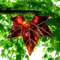 Autumn Leaf by colorandlight on Etsy, $29.00  Color and Light Stained Glass