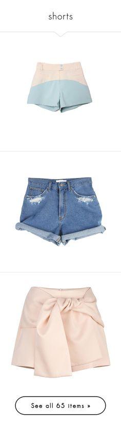 """""""shorts"""" by sinyukovayulya ❤ liked on Polyvore featuring shorts, bottoms, pants, short, short shorts, denim shorts, denim, jean shorts, denim short shorts and short jean shorts"""