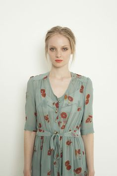 Simple look of a floral dress