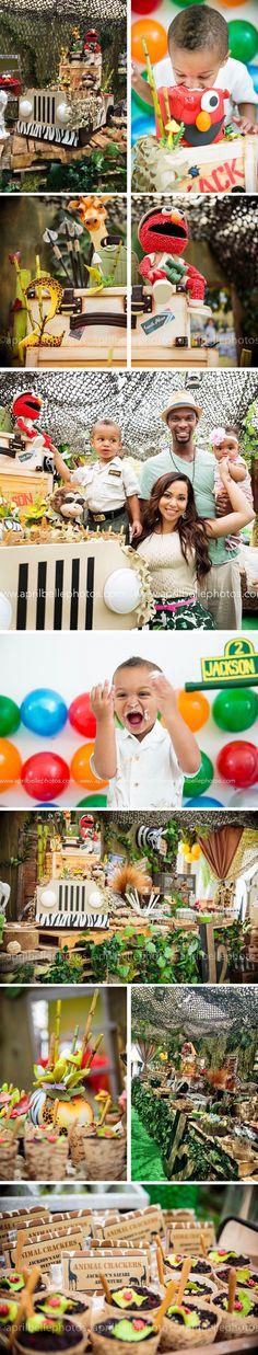 birthday cakes  Jacksons Safari  Birthday: Miami Birthday Cake and Dessert Station | jakie Ohh Events | April Belle Photography | Chris Bosh