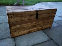 Rustic Storage Trunk Bench Hope Chest Handmade from Reclaimed Wood by TimberWolfFurniture on Etsy #etsy #etsyuk #rustic
