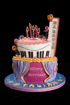 Creative Image Of Birthday Cake For 5 Years Old Girl Theater Year Cakecentral