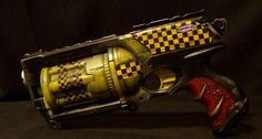 Nerf Maverick Borderlands Torgue Painted Black w Yellow Trim Must See | eBay