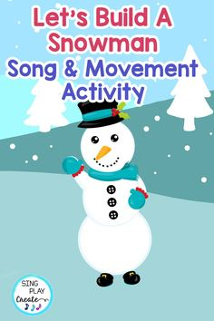 "Now you can build a snowman to music! ""Let's Build a Snowman"" movement activity video is a fun activity you can use with your snowman units, as a winter brain break and as part of a music lesson. Keep students active during the winter months with this engaging movement activity. Whether at home, virtual or in the classroom, all ages will enjoy learning the dance and building a snowman to music. Movement Activities, Writing Activities, Fun Activities, Line Up Chants, Kindergarten Music Lessons, Snowman Songs, Kinesthetic Learning, Music Teachers, Music And Movement"