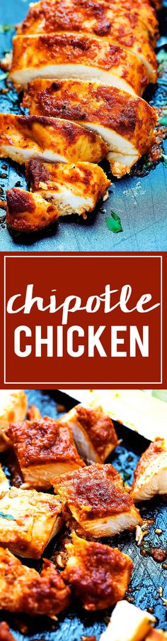 A good way to add some flavor to baked chkn Poulet Au Chipotle, Chipotle Chicken, Mexican Food Recipes, Dinner Recipes, Dinner Ideas, Cooking Recipes, Healthy Recipes, Easy Recipes, Food Dishes