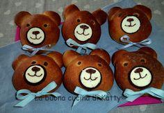 """La buona cucina di Katty: Orsetto maritizzo con musetto di biscotto """"Ringo"""" - Teddy Bear brioche with biscuit nose """"Oreo"""""""