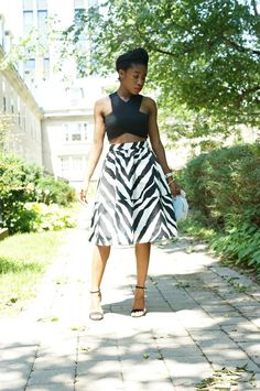 Express Zebra print Skirt
