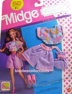 *1990 Wedding day fashions Midge outfit 2 #9632