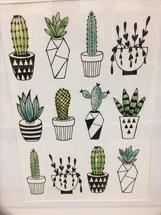T w a a y y * * * cactus doodle, cactus art, floral doodle, cactus drawing. Succulents Drawing, Cactus Drawing, Plant Drawing, Cactus Art, Cactus Doodle, Floral Doodle, Art Floral, Cactus Plants, Cactus Painting