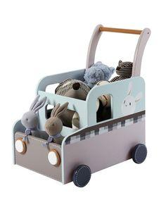 Caixa de arrumação com rodas para quarto de bebé AZUL MEDIO BICOLOR/MULTICOLOR - Verbaudet